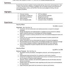 security officer resume best security officer resume exle livecareer inside it