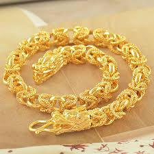 chain link bracelet gold images Chinese wristband 14k solid gold filled mens dragon chain link jpg