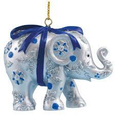 elephant parade bundle of joy silver christmas tree ornament