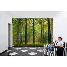 Forest Mural by Ideal Decor 100 In X 144 In Autumn Forest Wall Mural Dm216 The