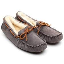ugg moccasin slippers sale authentic ugg australia dakota pewter moccasin sheepskin slipper