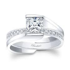 princess cut wedding set barkev s white gold princess cut bridal set 8070s barkev s