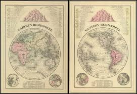 World Map Hemispheres by Remodelaholic 20 Free Vintage Map Printable Images