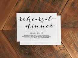 bridal dinner invitations modern calligraphy style font rehearsal dinner invitation simple