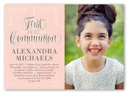 communion invitations for girl decorative borders girl 5x7 invitation communion