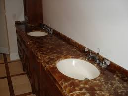 Bathroom Vanity Countertops Ideas by Bathroom Decorating Design Ideas Using Dark Brown Marble Onyx