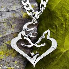 Buck And Doe Couples Necklace Heart Shaped Animal Necklace Sets For Couples Namecoins