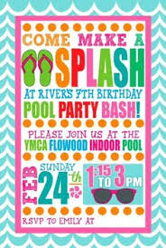 pool party invitation kids pool party by littleapplesdesign