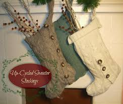 up cycled sweater stockings 12 days of handmade christmas far