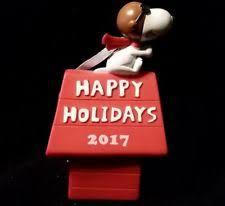 Snoopy Airplane Christmas Decoration by Hallmark Snoopy Ornament Ebay