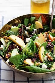Good Salad For Thanksgiving Apple Cranberry Walnut Salad Creme De La Crumb