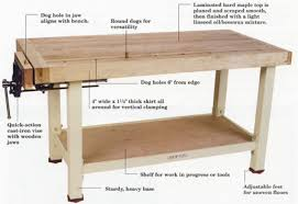 Woodworking Bench Adjustable Height by Bench