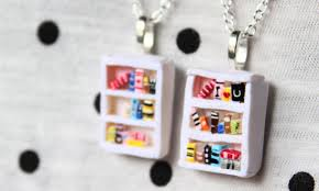 polymer clay home decor diy bookshelf necklace polymer clay tutorial estherday youtube