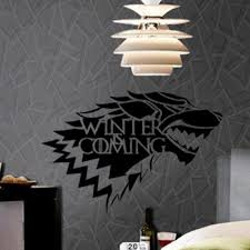 aliexpress com buy new removable game of thrones wolf wall decal aliexpress com buy new removable game of thrones wolf wall decal stark winter is coming art vinyl home wall sticker living room decal from reliable wall