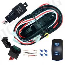 Led Light Bar Wiring Harness by Mictuning Led Light Bar Wiring Harness 40 Amp Relay On Off Laser