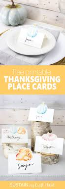 free printable thanksgiving place cards sustain my craft habit