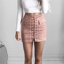 up skirt 64 dresses skirts vegan suede lush lace up cargo pink