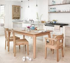 elegant extendable dining table in dining room beach style with