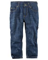 5 pocket straight fit splatter paint carpenter jeans carters com