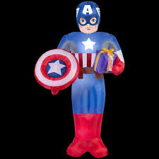 halloween costumes captain america marvel 41 34 in d x 38 19 in w x 72 05 in h inflatable captain
