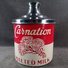 old fashioned kitchen canisters vintage carnation malt canister original painted aluminum