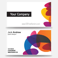 free colorful business card templates free vectors pinterest