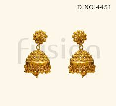 jhumka earrings traditional antique south indian jhumka earrings at rs 355 pair