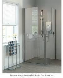 Shower Door Screen Larenco Alcove Height Shower Enclosure Duo Door