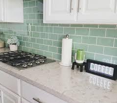 Green Backsplash Kitchen Best 25 Green Subway Tile Ideas On Pinterest Glass Intended For