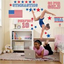 Gymnastics Room Decor Gymnast Wall Decal Name Gymnast Gymnastics Dance Vinyl