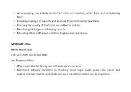 Home Health Aide Job Description Resume by Home Health Aide Resume Sample