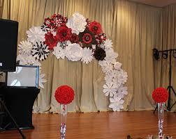 wedding arch backdrop paper flower arch etsy