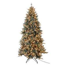 white pre lit trees artificial trees the