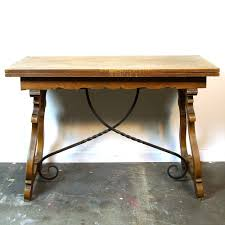 30s spanish mission style table vintage 1930s wood u0026 wrought