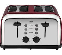 Next Toaster Buy Logik L04tr14 4 Slice Toaster Silver U0026 Red Free Delivery