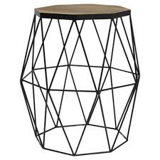 Hexagon Side Table Buy Hexagonal Top Wire Side Table From Our Side L Tables
