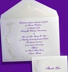 embossed calla lilies wedding anniversary invitations item be6906