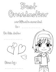 best grandmother certificate coloring pages hellokids com