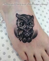 grey cute owl tattoos