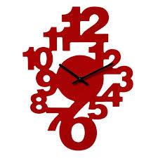 pendule cuisine horloge murale chiffres couleur maison futée