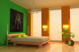 Wall Color Designs Bedrooms Bedroom Colorful Bedroom Decorating Idea With Green Orange Paint