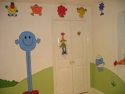 mr men chidren s nursery mural magical murals mr tall