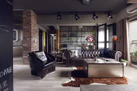 modern apartment design for men with hero u0027s retreat theme looks