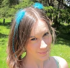 feathers in hair feathers trend of the year