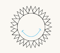 how to draw a sun easy drawing guides