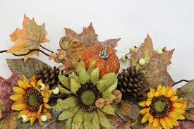 admiredbynature artificial sunflowers pumpkins pinecone maple
