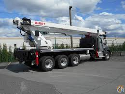 kenworth for sale kenworth 800 tridem elliott 36127r stiff boom crane for sale in