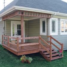 construire son chalet en bois fabriquer escalier et garde corps pour le patio en étapes