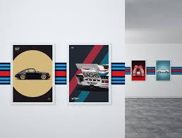 porsche garage decor garage wall stripe martini car bone pl