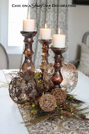 ideas for thanksgiving centerpieces decorations arch wood candle stick with candle light for